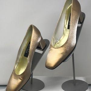 Stuart Weitzman, Gold Metallic Shimmer Heels 7.5 N